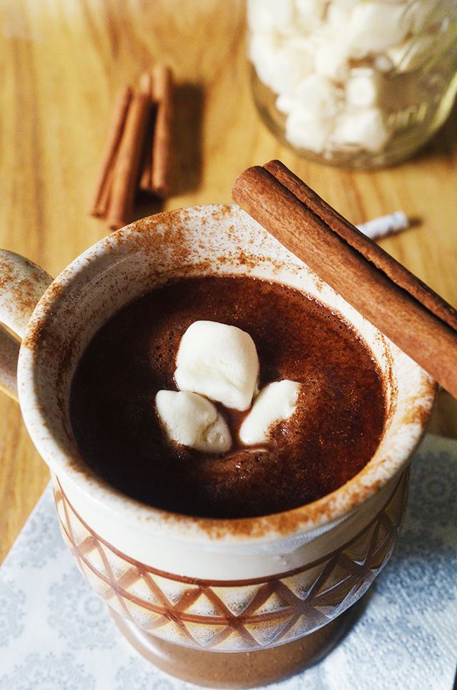 cinnamon hot chocolate, dairy-free cinnamon hot chocolate, vegan cinnamon hot chocolate, vegan hot chocolate, best vegan hot chocolate, best cinnamon hot chocolate, fall hot chocolate, vegan fall hot chocolate, vegan fall drinks, vegan autumn drinks, vegan halloween food, vegan hot drinks, dairy-free hot chocolate recipes, spicy vegan hot chocolate, spicy dairy-free hot chocolate