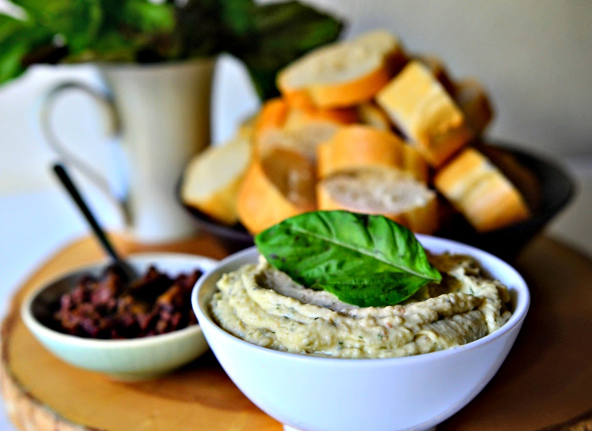 Basil and White Bean Dip