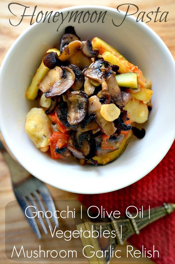 vegan gnocchi with vegetables